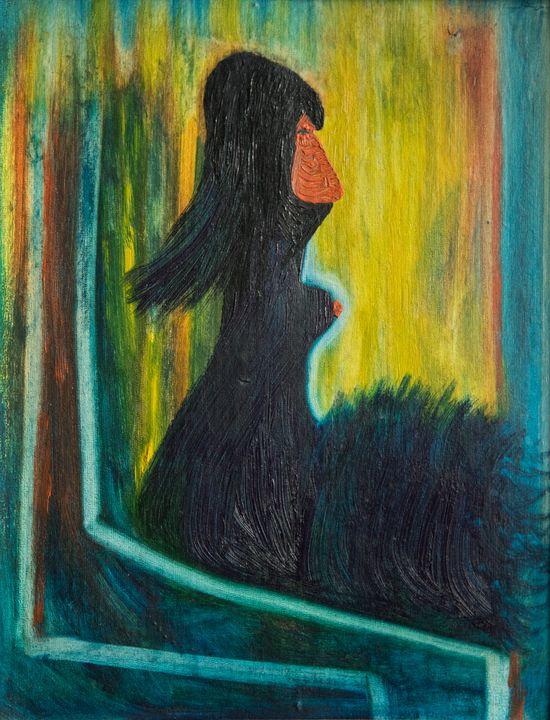 Sadness - Traditional Art