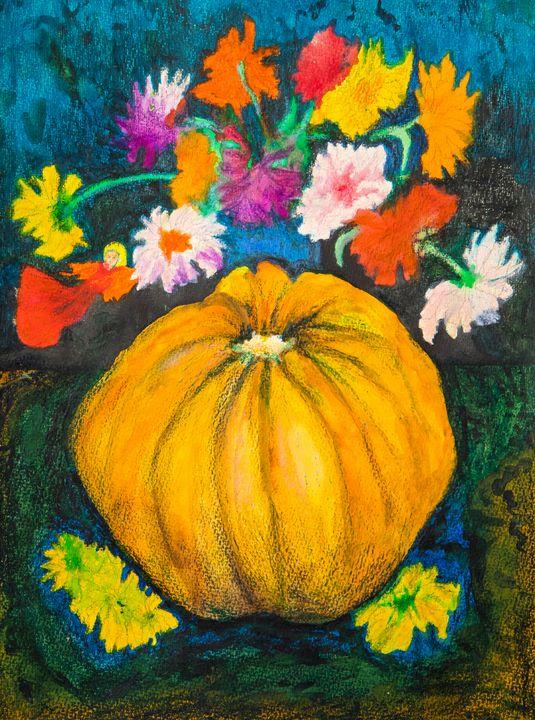 Pumpkin - Traditional Art