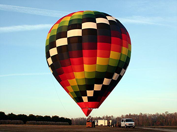 Hot Air Balloon Ready To Go - Fran West
