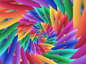 Psychedelic Pastel Rainbow Spiral - Kitty Bitty