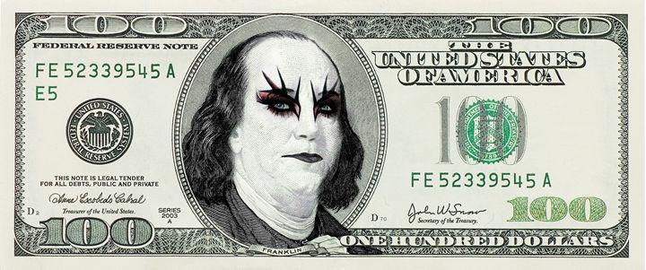 Funny Gothic Banknote Parody - Kitty Bitty