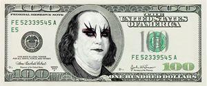 Funny Gothic Banknote Parody