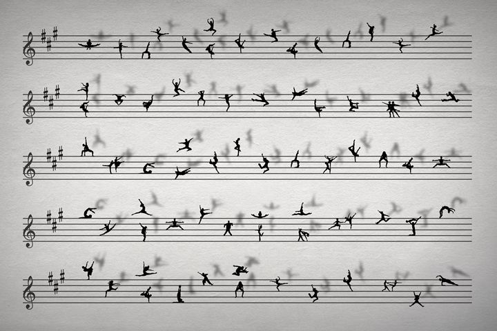 Dance Music Conceptual Sheet Music - Kitty Bitty