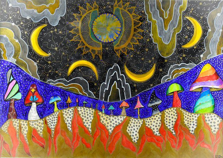 Sun, Moon and Fire - Nina Pietsch