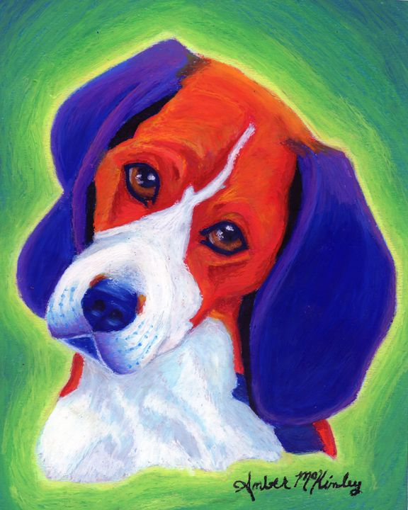 Beagle of color - Dreaming of Animals Art by Amber McKinley