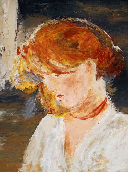 Girl after Grigorescu - Cristina's Gallery