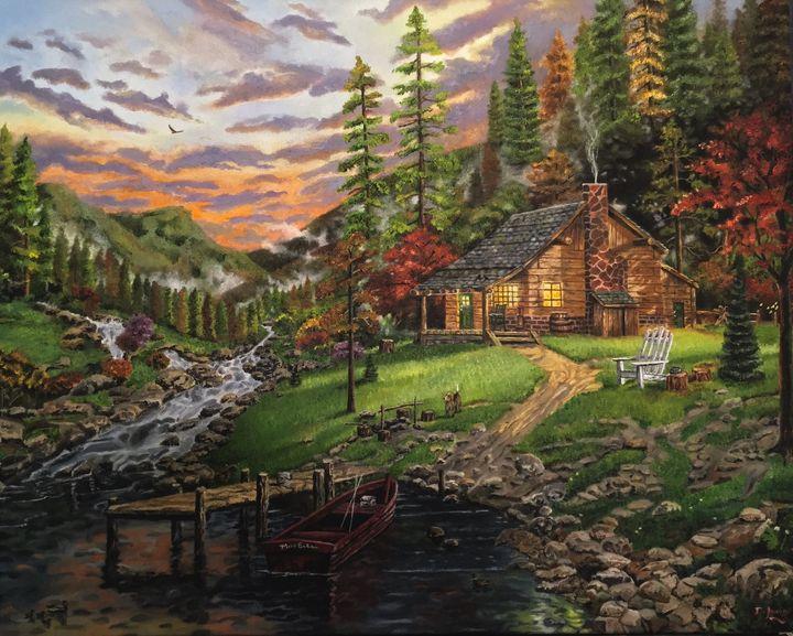 Landscape Serenity - D.Lewis Art Studio
