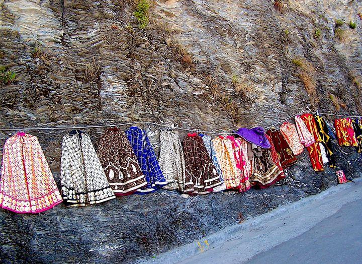 Clothes Hanging on Hillside - Seema Kumar