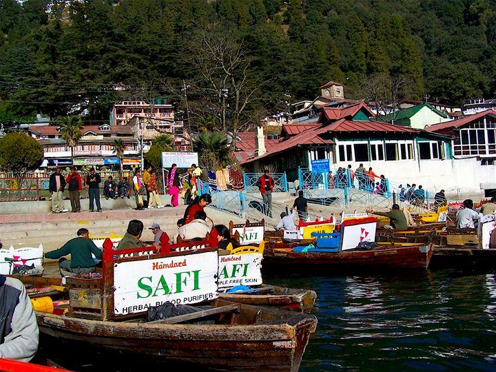 Boats Near Lake - Seema Kumar