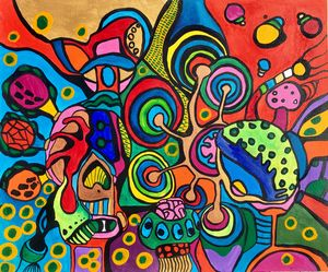 DONUTS. CRAZY COLORFUL ABSTRACT