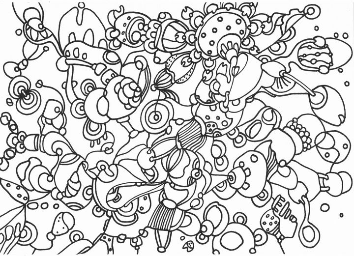 ECHO black & white surreal doodling - VeeraZukova