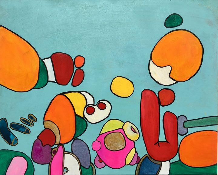 PUF. psychedelic, colorful, doodles, - VeeraZukova
