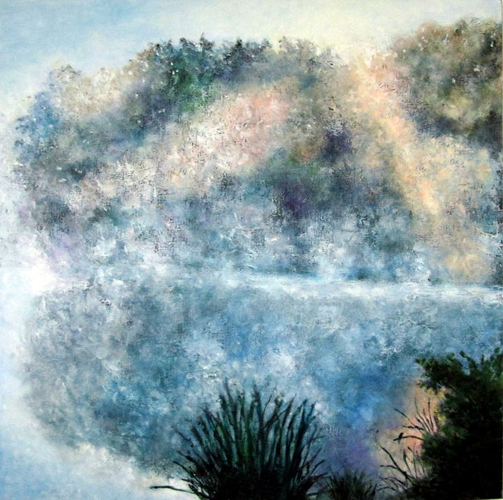 Misty Lake - Oils and More