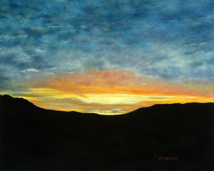 Desert Sundown - Oils and More