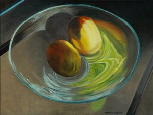 Mangoes in Glass Bowl