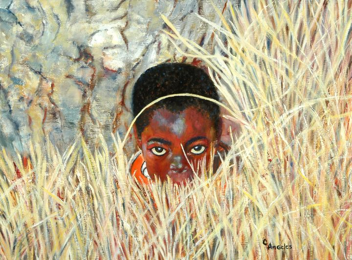 Face in the Grass - Oils and More