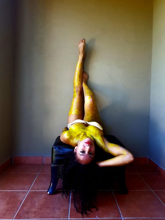 Body paint Vision. Yellow. - New Dawn Visions Productions INC
