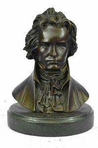 Bronze Bust Sculpture of Ludwig van
