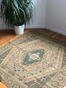 French VIN c.1890 ethnic Kilim Rug