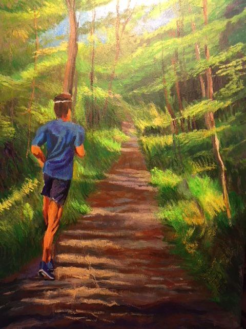 Running on my favorite mountain - Pierre Bibeau artist