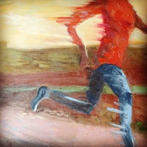 Danielle the runner - Pierre Bibeau artist