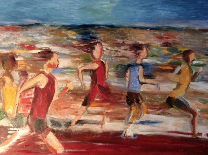 Runners in Ottawa 2015 from unknown - Pierre Bibeau artist