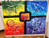 Four seasons abstract painting