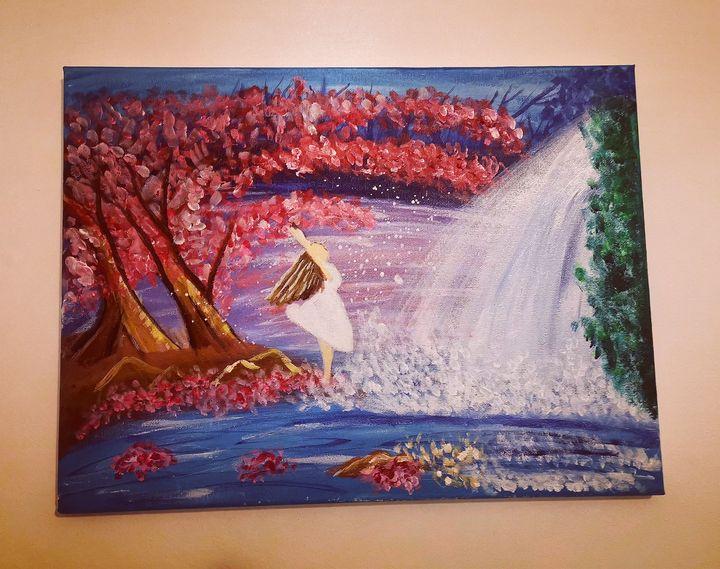 The girl with the waterfall - Aleksandra Janus
