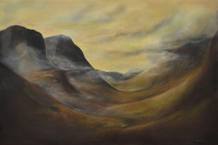 The Three Sisters, Glencoe, Scotland - Rachael Curry Art