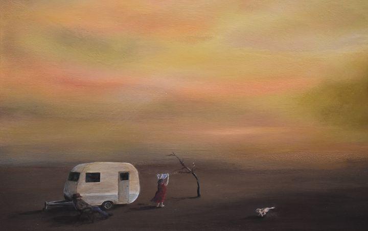 Dusty Caravanning - Rachael Curry Art