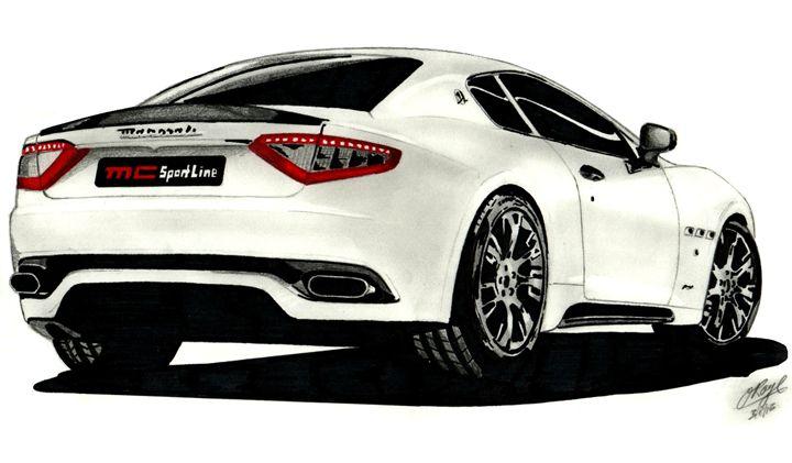 Maserati Granturismo S3 - Roze Art