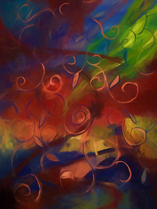 Abstract Fall Swirls - Artofmine