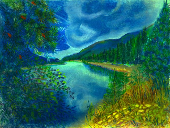 Blue skies - Sylviasartworks