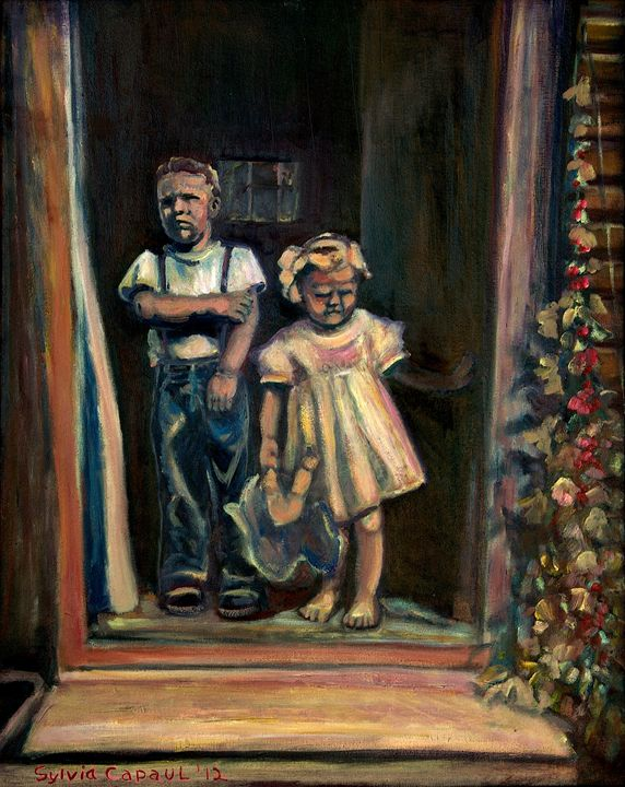 Children At Door - Sylviasartworks