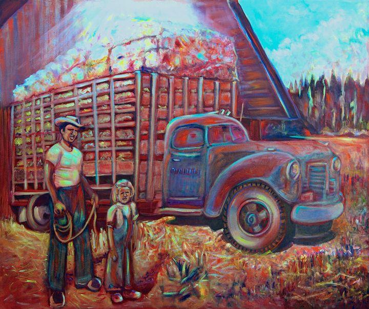 Loading Hay - Sylviasartworks