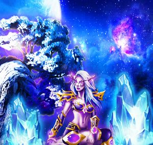Night Elf at the edge of the world