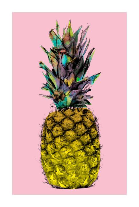 Funky Pineapple on Pink - jamesdenniston