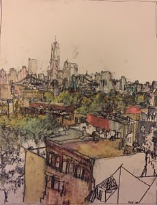 Roof top sketch