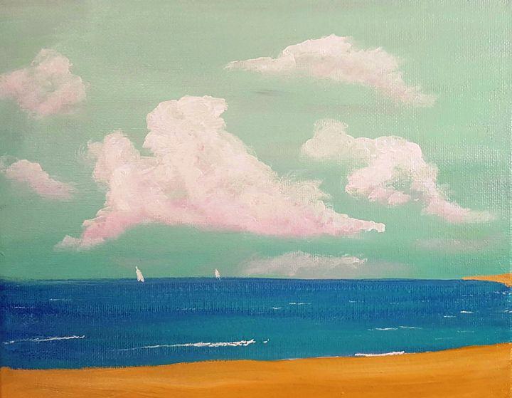 Simply Sky Sand Sea and Sails - SockFeetStudio