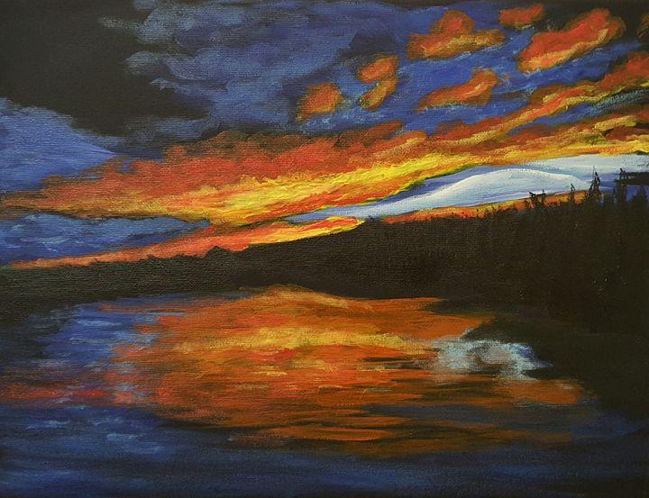 Fiery Sunset - SockFeetStudio