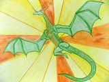 Green Sun Dragon Original