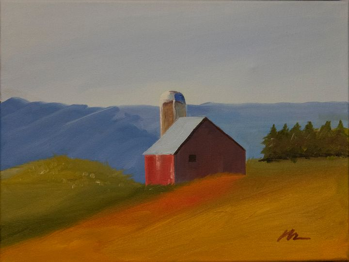 Alone on a Hill - B Anderson Painting