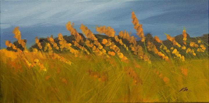 Lank Grasses Swirled - B Anderson Painting