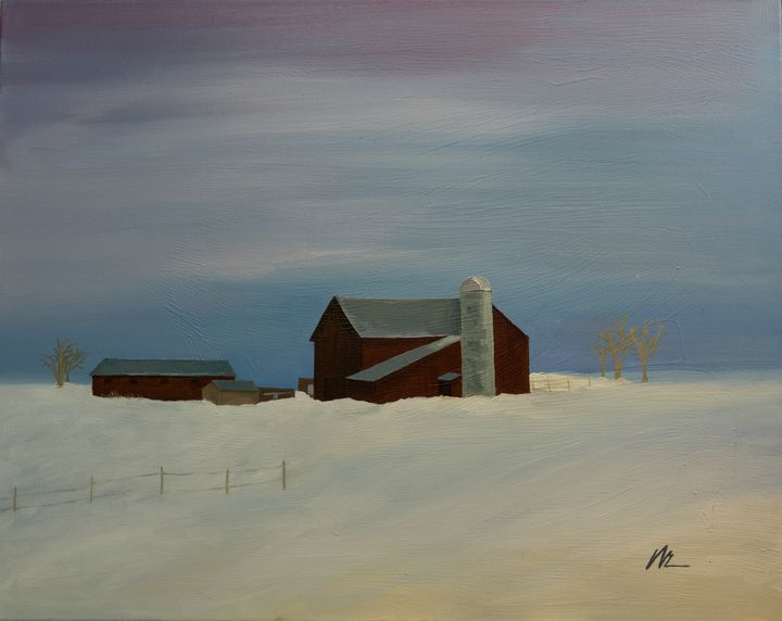 Deep into winter - B Anderson Painting