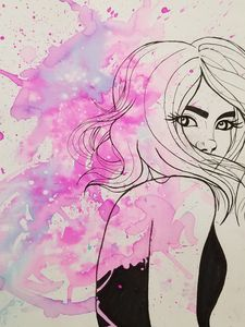Pretty in pink, and ink