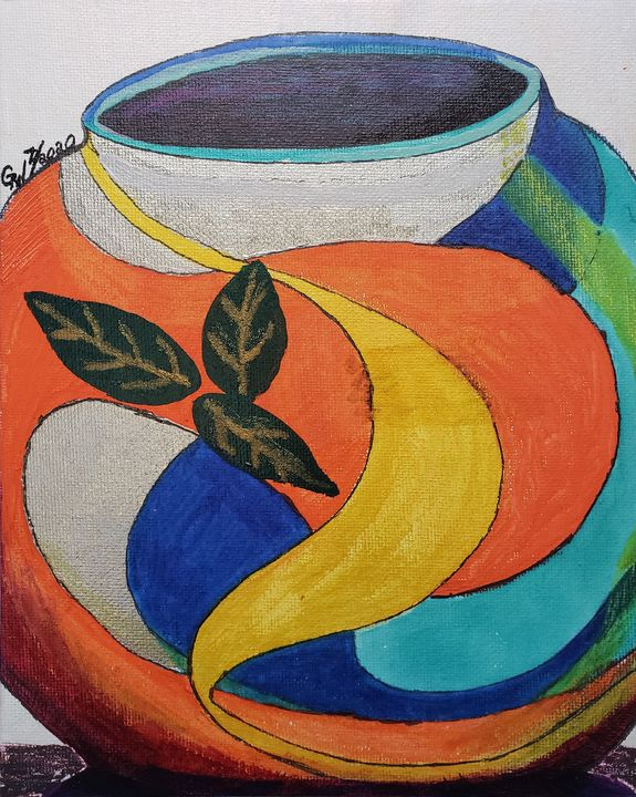 short colorful vase - Gina Wiener Designs