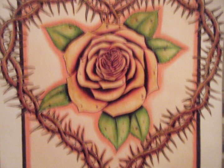Rose wrapped Thorn Heart - York Art Plus
