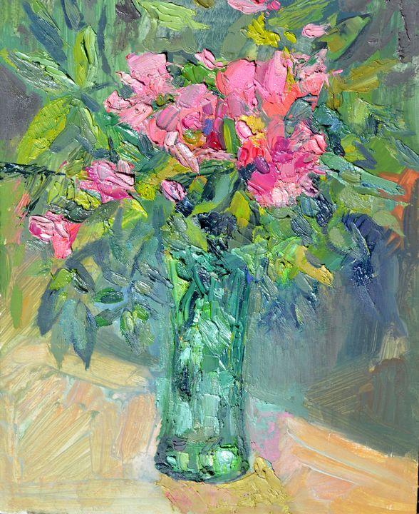 Цветы в зеленой вазе - Татьяна Славинская