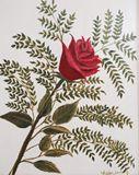 Original Acrylic Painting of Rose