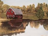 Original Painting of Barn and Nature